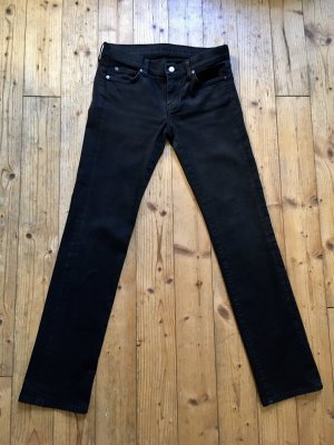 7 For All Mankind Stretch Jeans black cotton