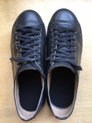 klassische schwarze Ledersneaker von G-Star