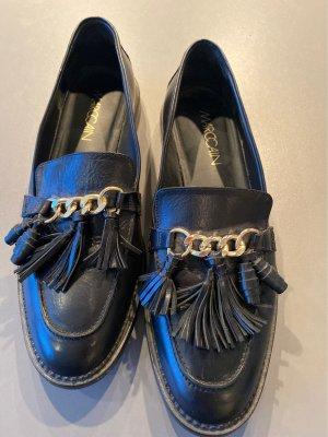 MARCCAIN Zapatos formales sin cordones negro-color oro