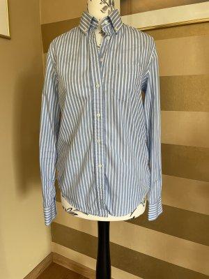 Gant Blusa de manga larga azul aciano-blanco