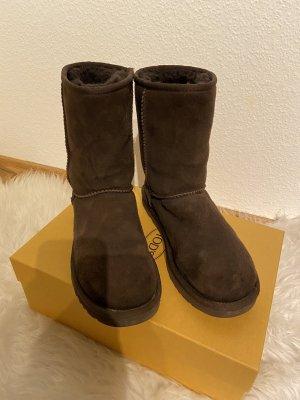 UGG Winter Boots dark brown-black brown