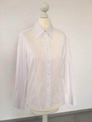 Klassische weiße Hemdbluse von Oui Anytime Größe 34