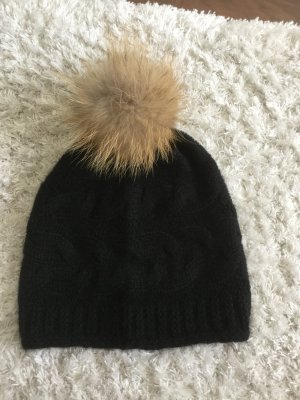 Fur Hat multicolored cashmere
