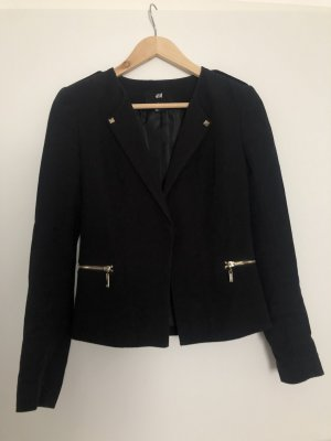 H&M Jersey Blazer black-gold-colored