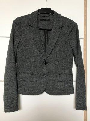 Opus Klassischer Blazer donkergrijs-zwart Polyester