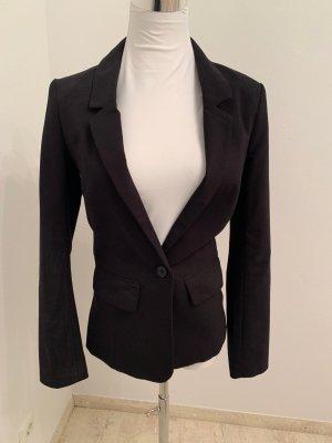 Klassischer Blazer schwarz, Promod, mit Knopf und 2 Taschen vorne, 34
