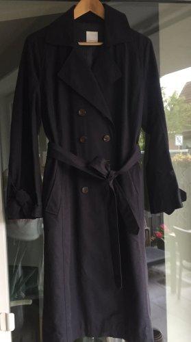 Klassischer dunkelblauer Trenchcoat von Hugo Boss