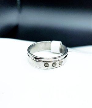 Statement ring wit-zilver