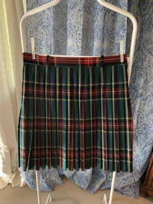 Plaid Skirt multicolored wool