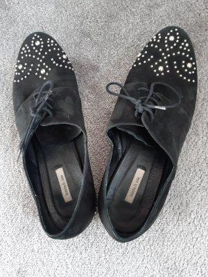 Bimba & Lola Sznurowane buty czarny Skóra