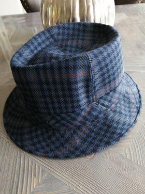 Chapeau en laine noir-bleu foncé