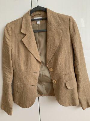 H&M Blazer corto color cammello Lino