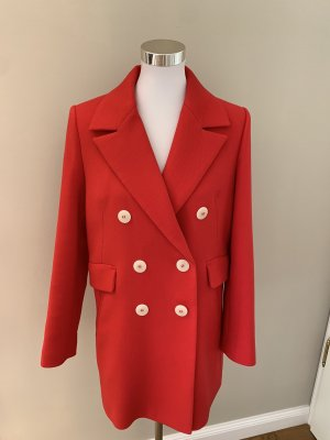 Mango Manteau court rouge
