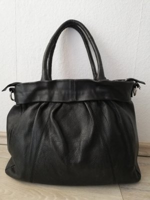 Shopper black leather
