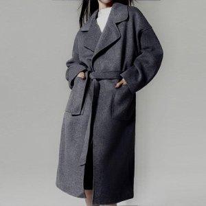 Manteau en laine gris