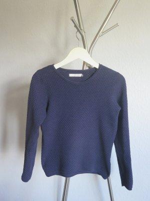 Minimum Sweter z okrągłym dekoltem ciemnoniebieski Bawełna