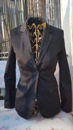 Zero Blazer de esmoquin negro-gris antracita
