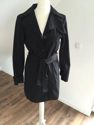 Klassischer Trenchcoat in schwarz