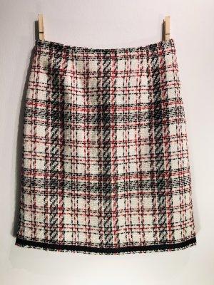 Tweedowa spódnica w kolorze białej wełny Poliakryl