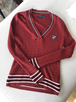 Klassischer V-Ausschnitt Pullover