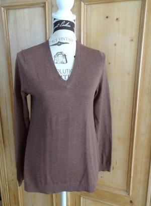 Klassischer V-Neck Pullover - Mexx - Gr. M - Farbe Coffee - neu