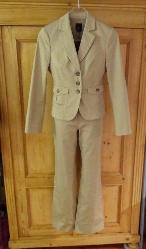 esprit collection Trouser Suit oatmeal cotton