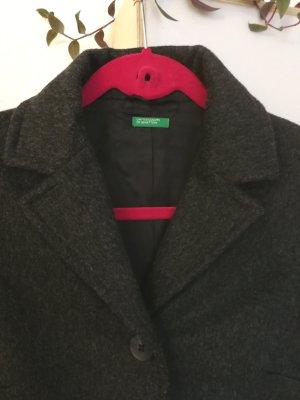 United Colors of Benetton Abrigo de lana gris oscuro