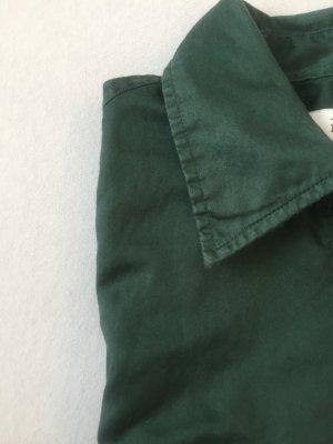 Klassisches Hemdblusenkleid in wunderschönem Dunkelgrün