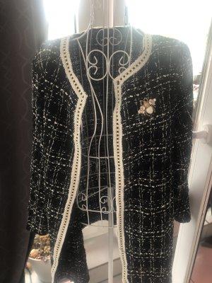 Anthropologie Tweed Blazer multicolored polyester