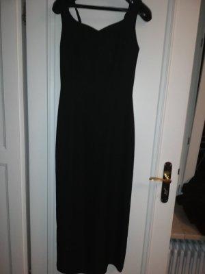 Klassisches schwarzes Abendkleid mit tollem Rückenausschnitt Gr 38/40