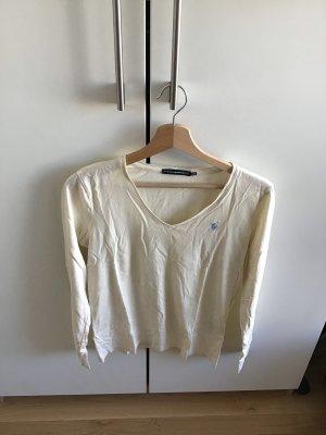 Klassisches V-Neck Langarm T-Shirt