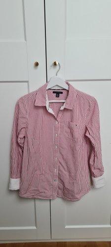 Klassisches Weiß-Rotes Hemd Tommy Hilfiger Gr. M