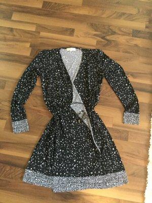 Michael Kors Robe portefeuille blanc-noir lycra