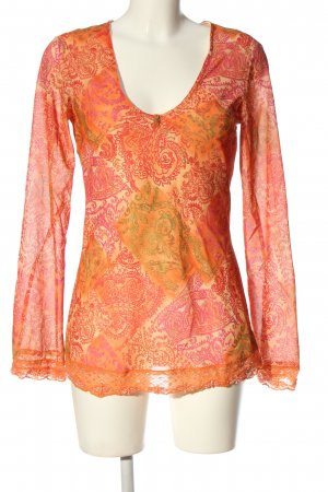 Klaus Dilkrath Slip-over Blouse abstract pattern casual look