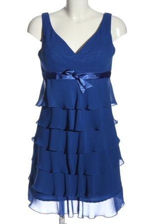 klaus G. Vestido estilo flounce azul elegante