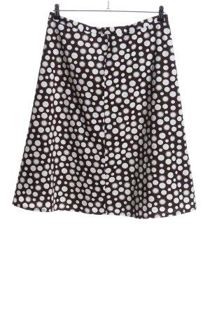 Klaus Modelle Flared Skirt white-brown spot pattern casual look