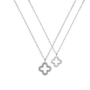 Collier bianco-argento