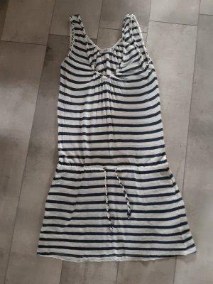 0039 Italy Sukienka plażowa biały-ciemnoniebieski