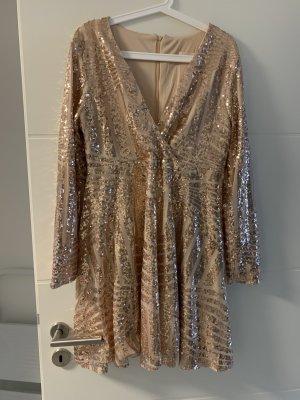 Asos Evening Dress sand brown