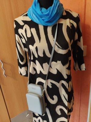 Robe tunique noir-gris clair