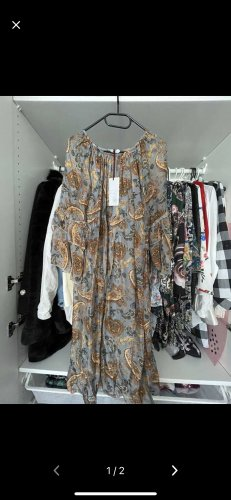 0039 Italy Vestido de tela de sudadera multicolor