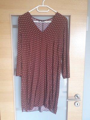 Bodyflirt T-shirt jurk bruin