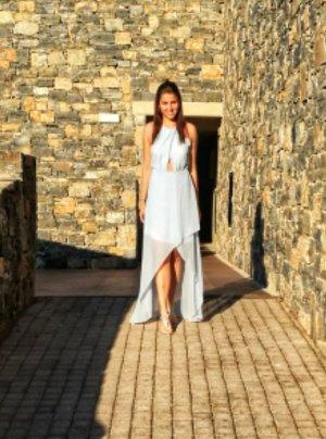 H&M Robe bas asymétrique bleu azur