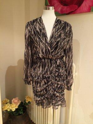 Longsleeve Dress black-white