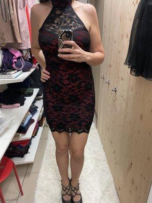 Pencil Dress black-brick red spandex