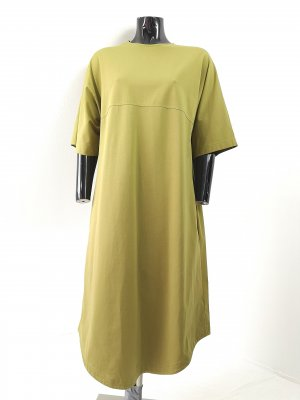 COS Midi Dress olive green cotton