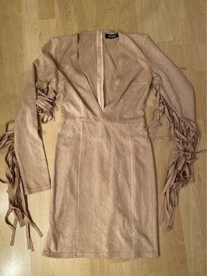 Missguided Fringed Dress nude