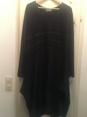 Kekoo Sukienka z rękawem balonowym ciemnoszary Wiskoza