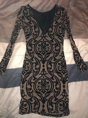 Longsleeve Dress light brown-black