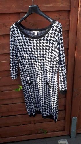 Anna Field Vestido de lana blanco-negro